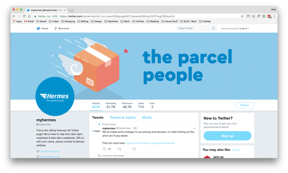 Social media assets example - Twitter