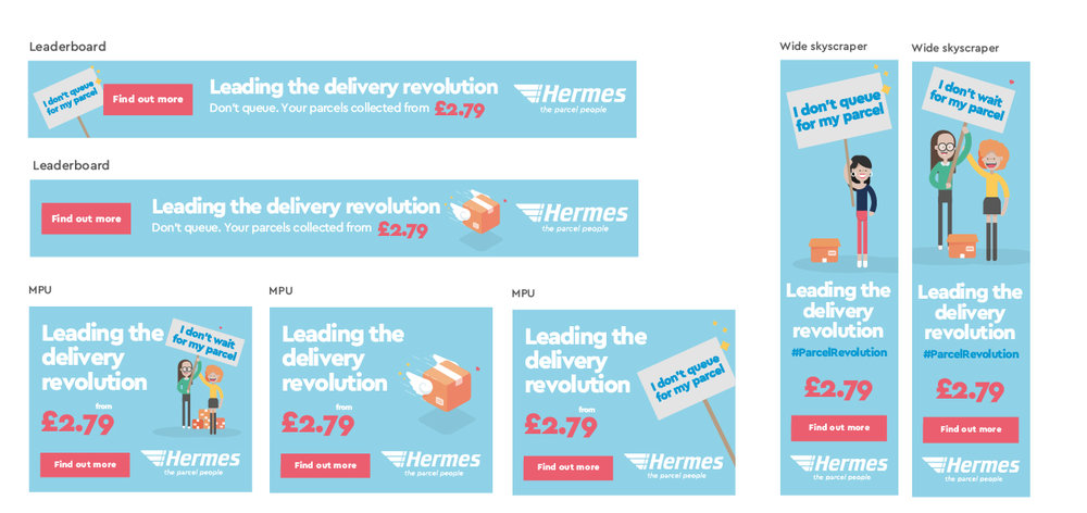Re-marketing ad banner in B2C messaging - Revolution Campaign