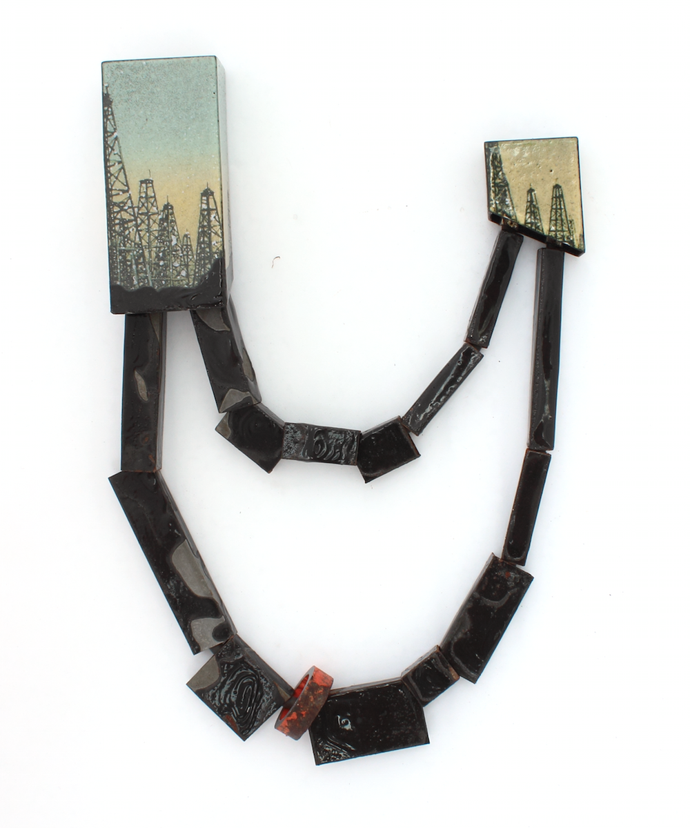 Oil & Water   2015    steel, enamel, rubber, found object