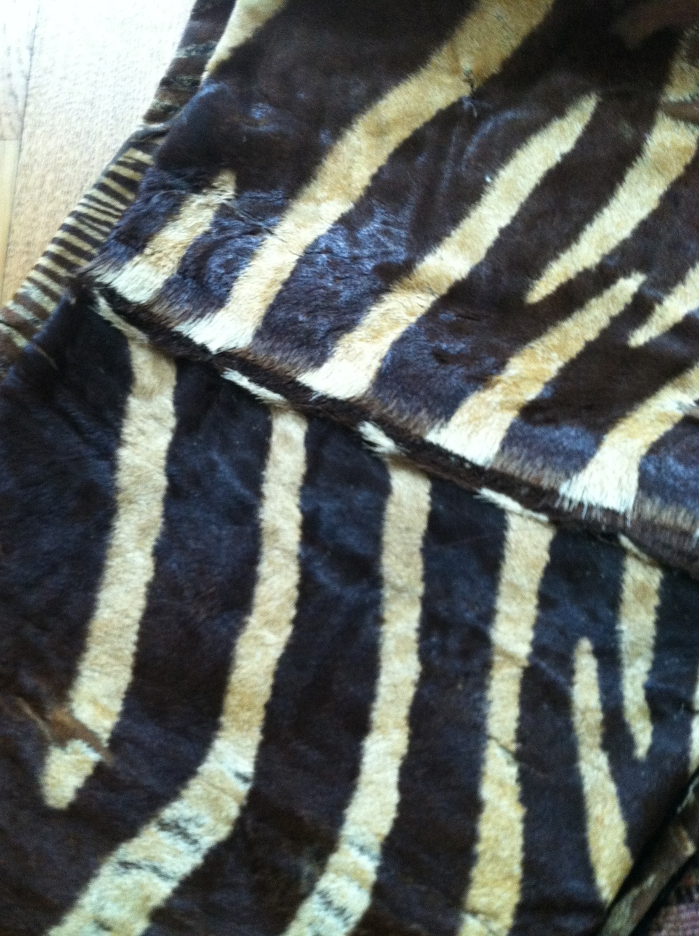 zebra hide pillows