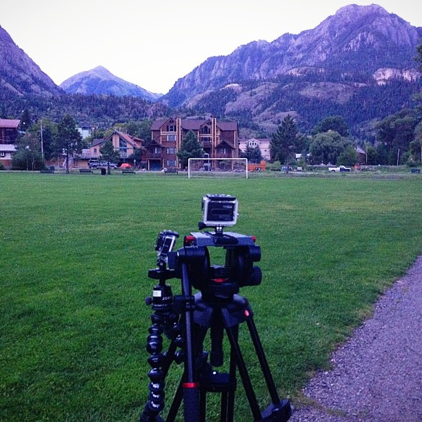 Duel #gopro timelapse of sunrise over the mountains in Ouray CO. #vscocam #joby #gorillapod #hero3