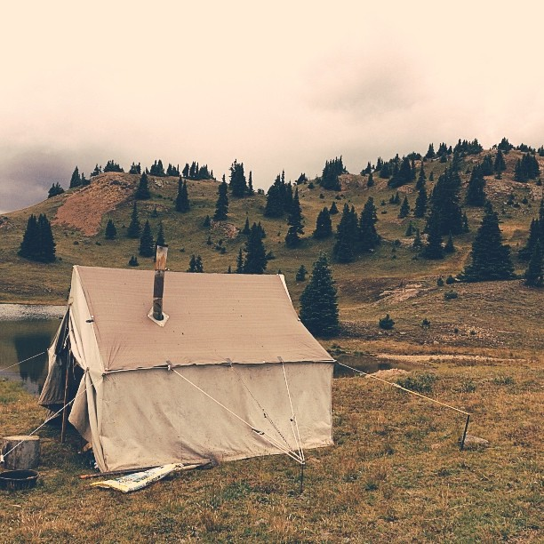 Shepherd's tent outside of Silverton, CO #vscocam #infaithpictures #docmakers