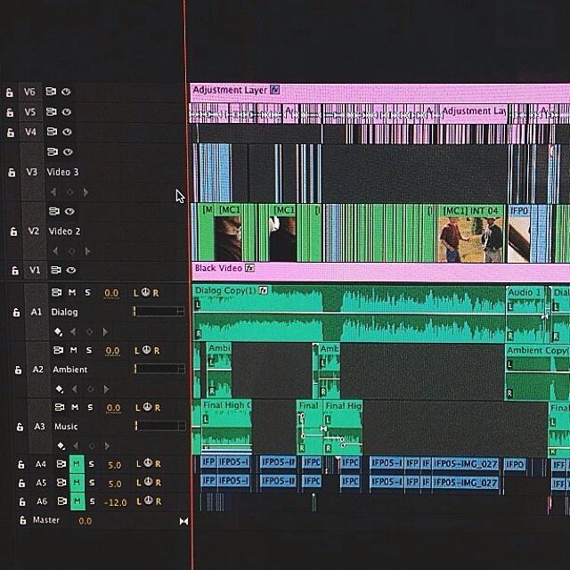 Lots of edits. Part of the Premiere timeline for High Country our new #documentary #film #itsallAboutJesus #vscocam #infaithpictures