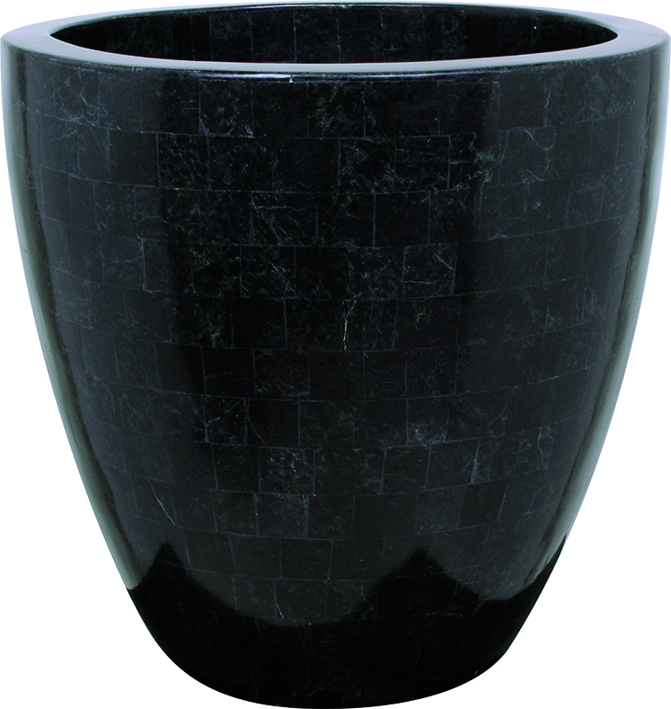 Geo crown - black polished
