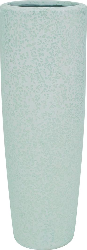 Glitter vase - white
