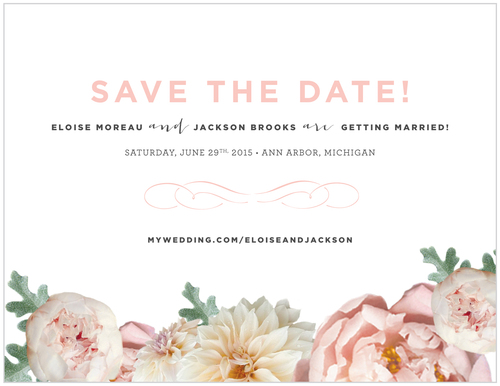Save The Date Blush Peony