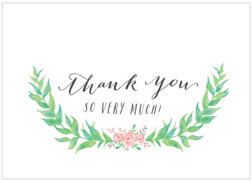 Thank You Note  Garden Party  Alisa Bobzien Wedding