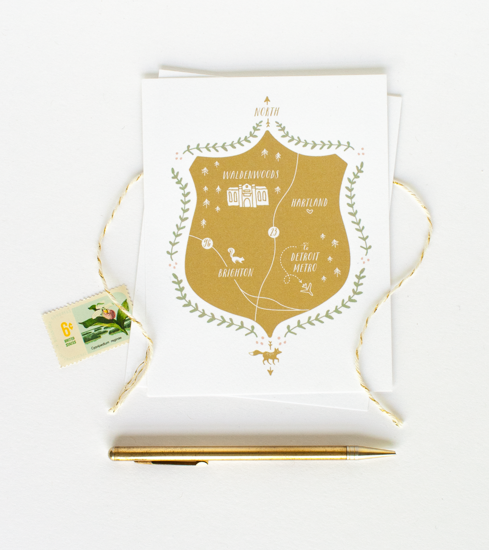 woodland_wedding_custom_map_illustrated