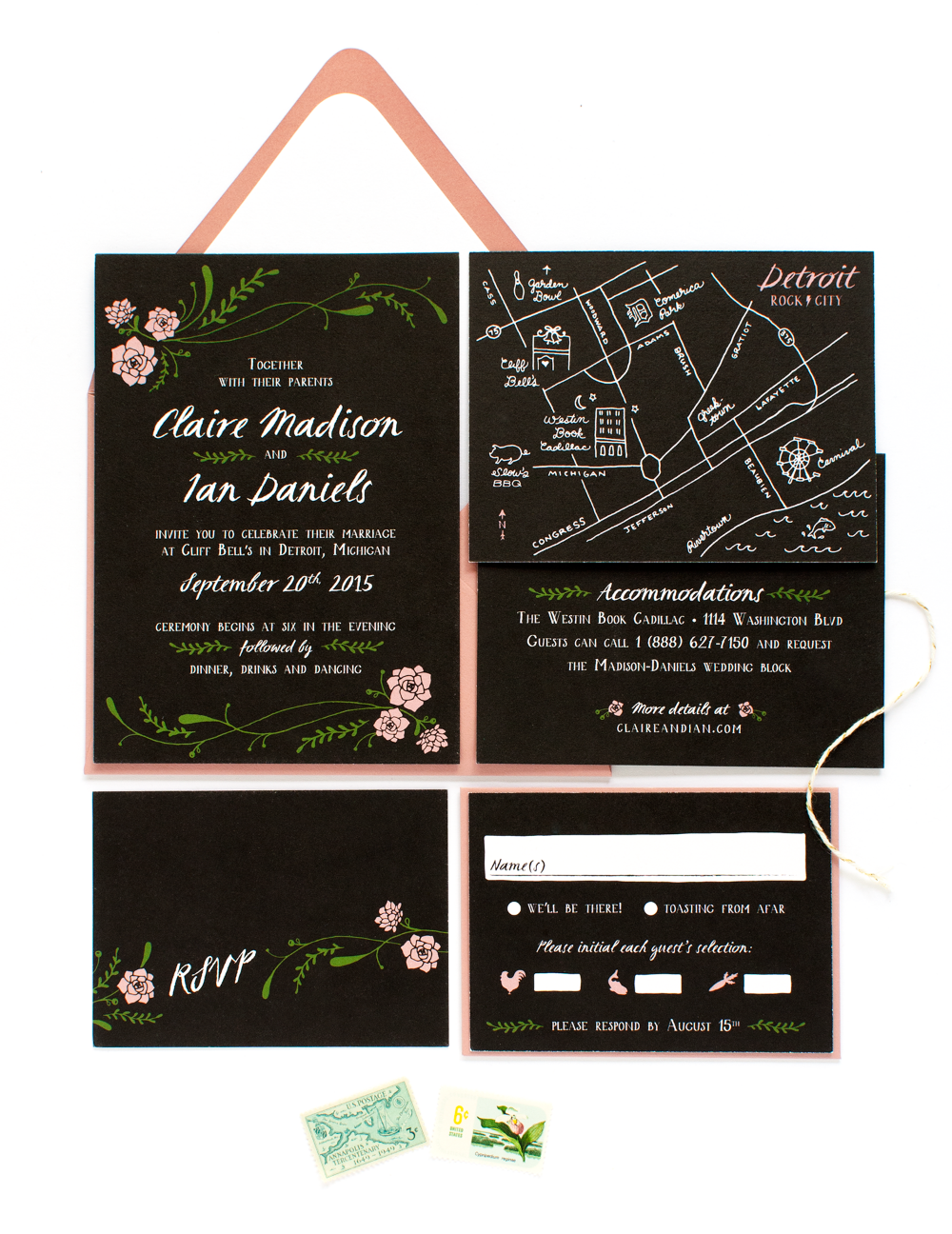 black_white_illustrated_wedding_invitations
