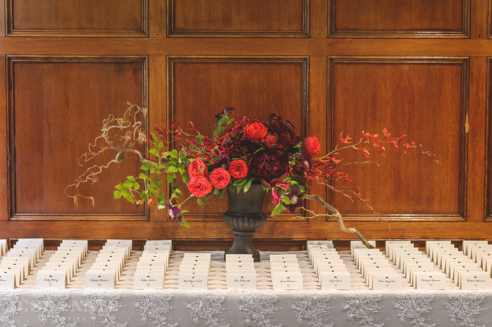 red_roses_centerpiece_lace_place_cards_wedding