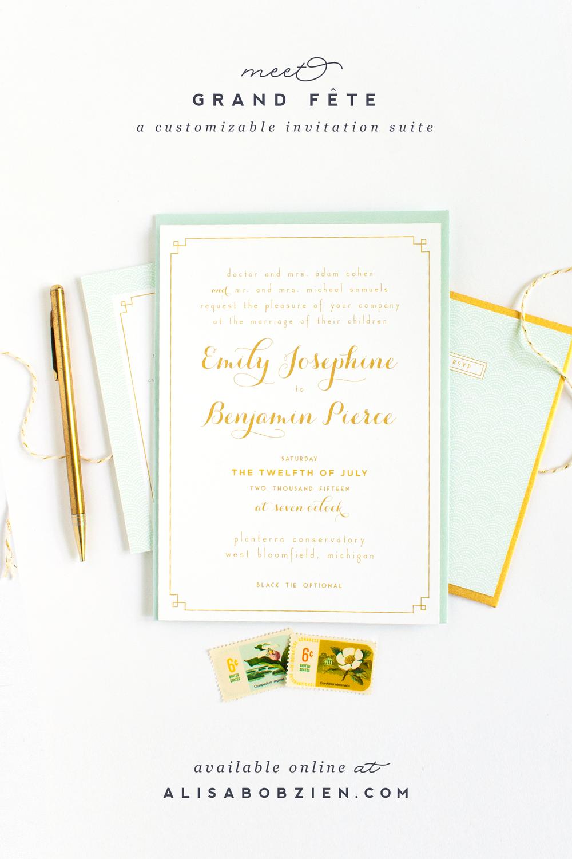 gold_aqua_glam_deco_wedding_invitations