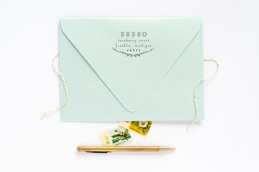 aqua_shimmer_envelope_wedding_invitation_stamp