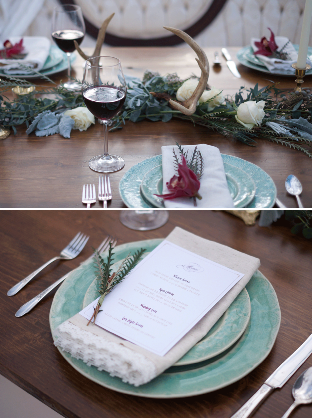 winter_wedding_tablescape_menu_antlers_marsala
