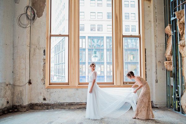 Industrial loft gold vintage wedding