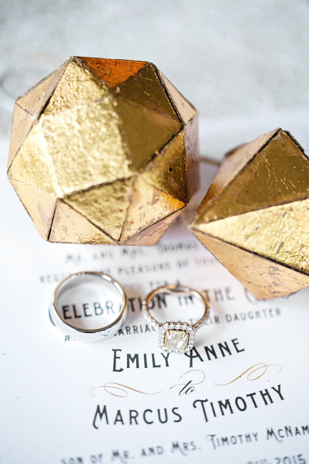 Gold Vintage Wedding Invitations
