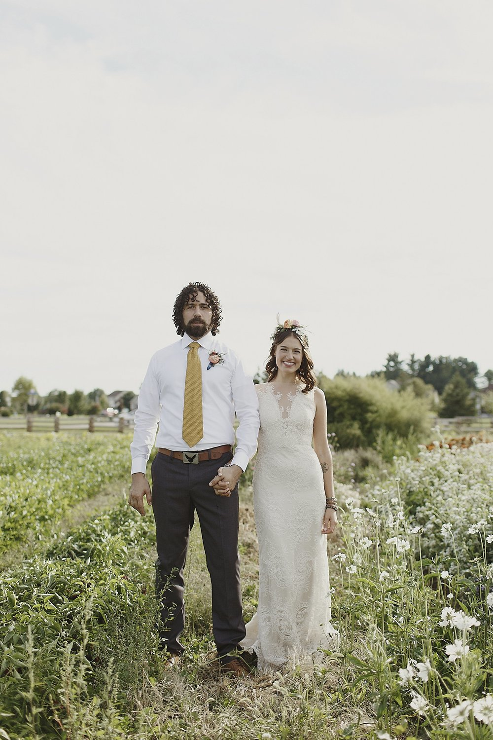 boho-field-flowercrown-wedding-portrait