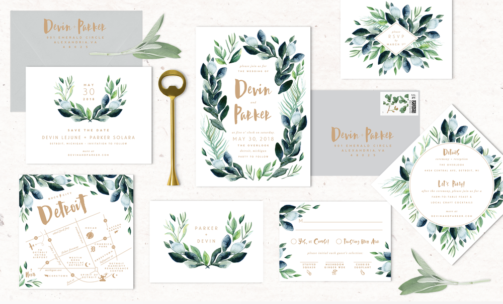 Greenery-wedding-invitations-botanical-watercolor.png