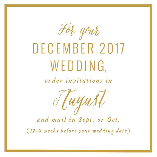Invitation reminder for the last of the 2017 weddings! Pricing, samples & details online. alisabobzien.com