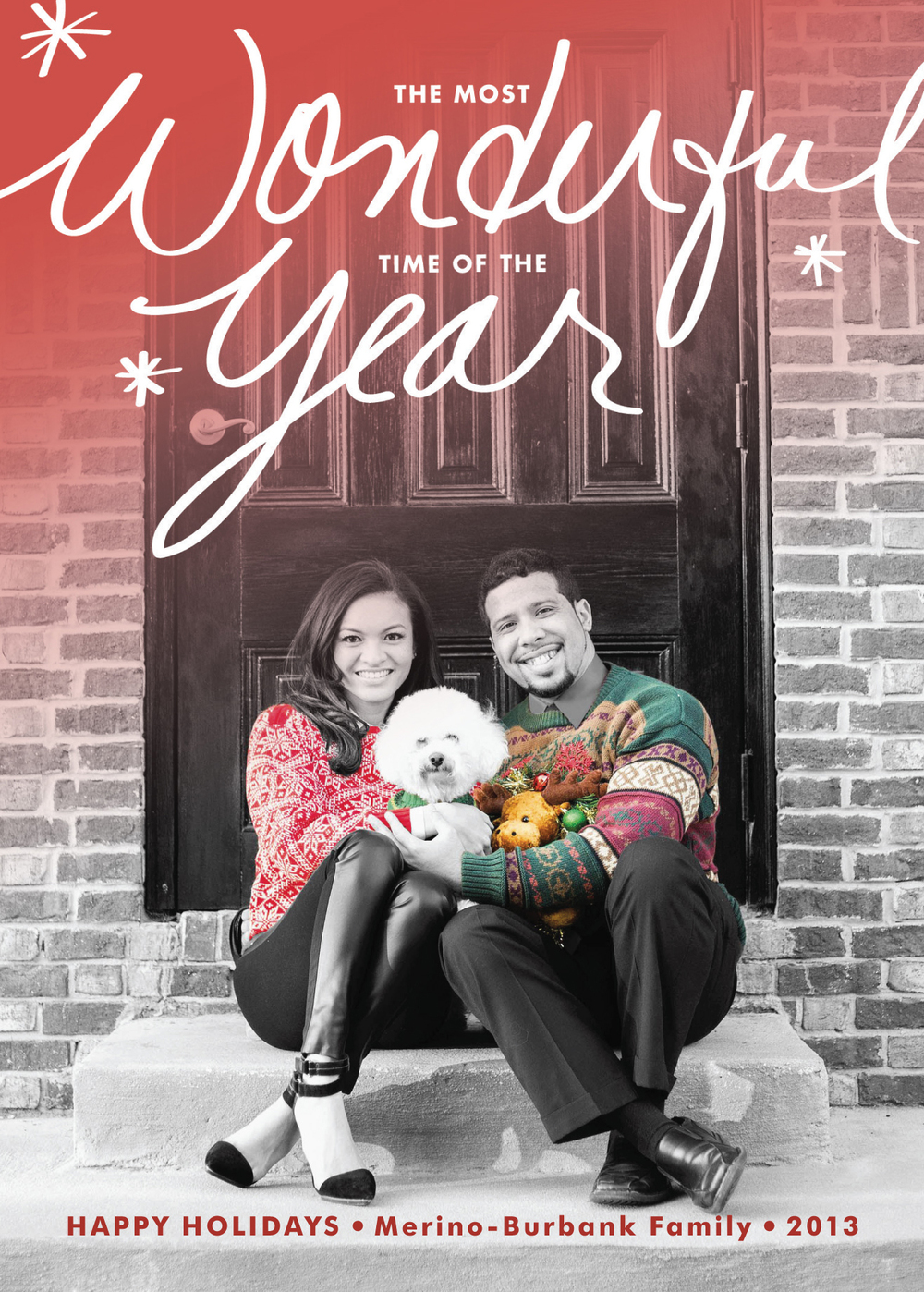 2013 Family Holiday Card — Caroline in the City