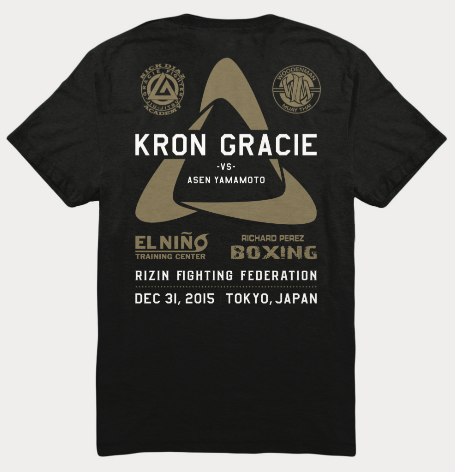 Limited Edition Fight T Shirt Kron Gracie Vs Asen