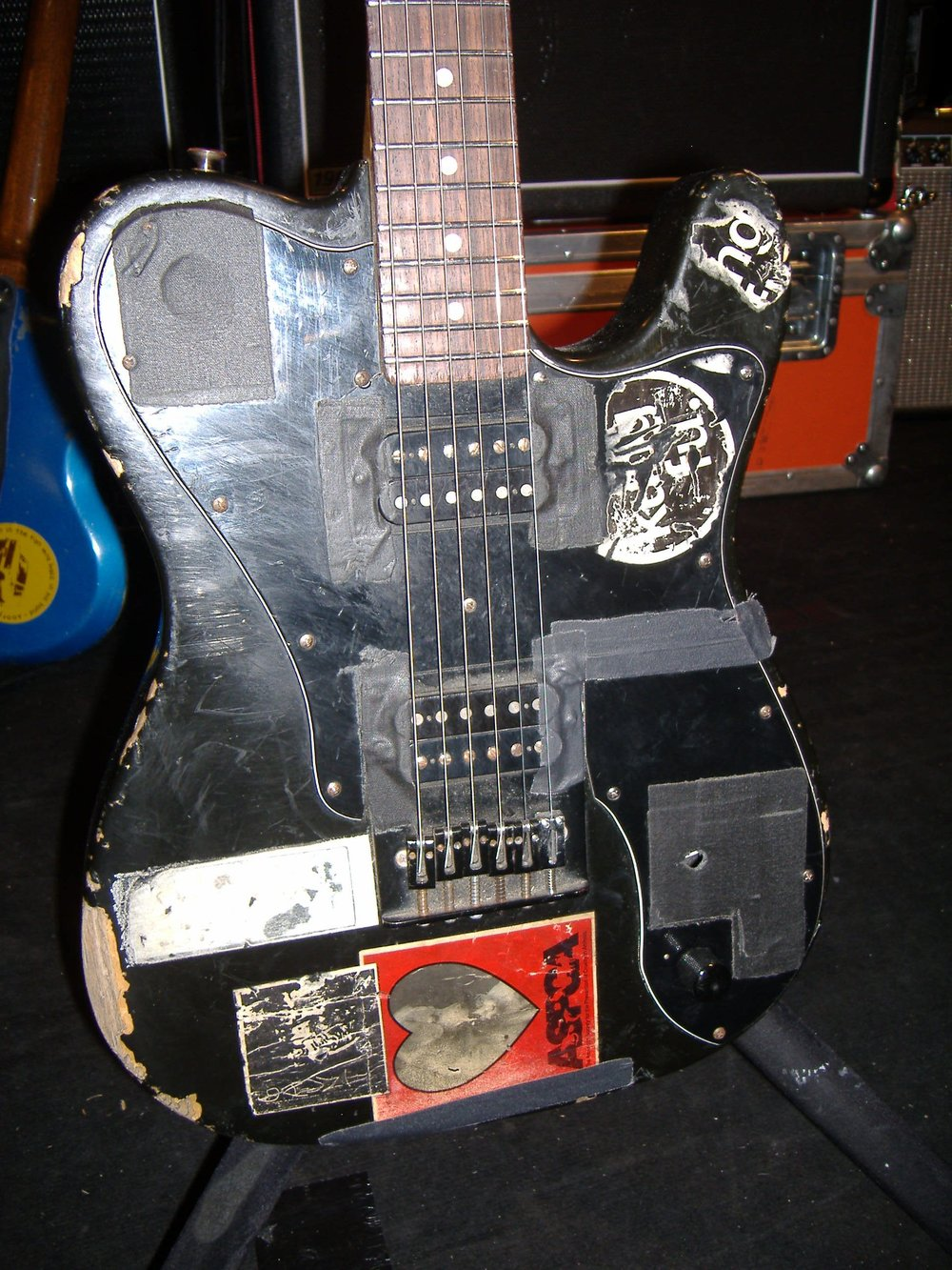 Another heavily modified Fender from Sonic Youth.