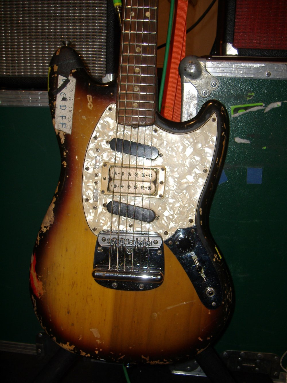 A Fender Mustang owned by Sonic Youth.