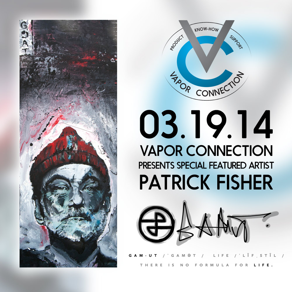 VAPOR CONNECTION    330 N Lantana St Camarillo, CA 93010  ‎  (805) 484-8410   Come out and support featured Gamut artists Cale and Pat and of course mellow out and get your Vape on!!!!
