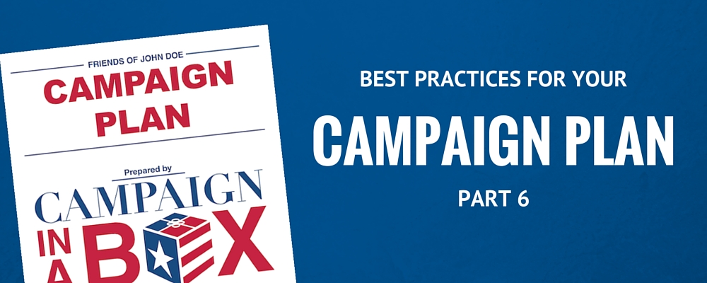 Scheduling out the fundraising plan for your campaign.