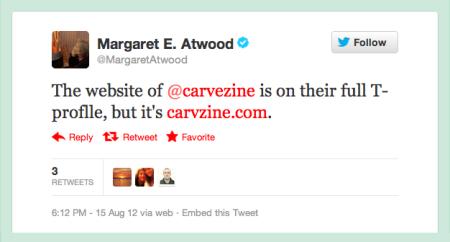 Margaret Atwood tweets Carve 4.png