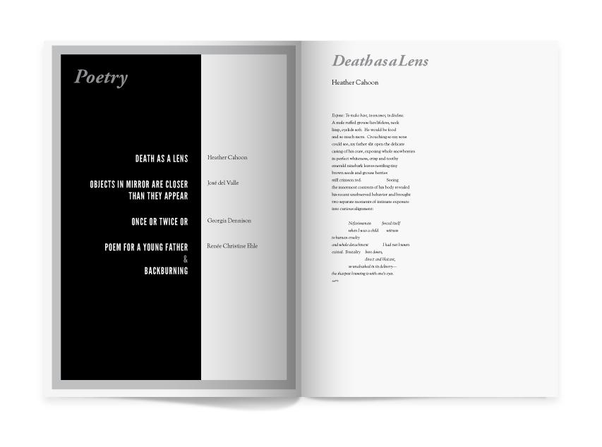New poetry & nonfiction plus our signature HONEST FICTION.