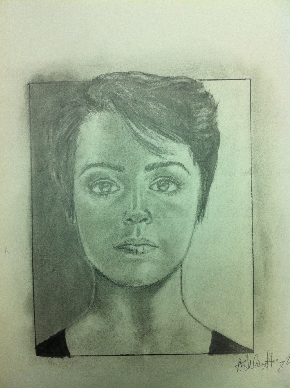 Graphite self portrait.