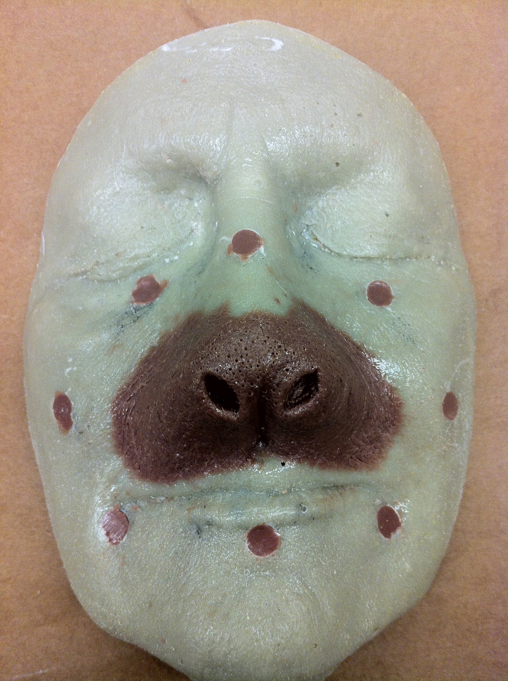 Nose sculpt in progress for Mrs. Barabe