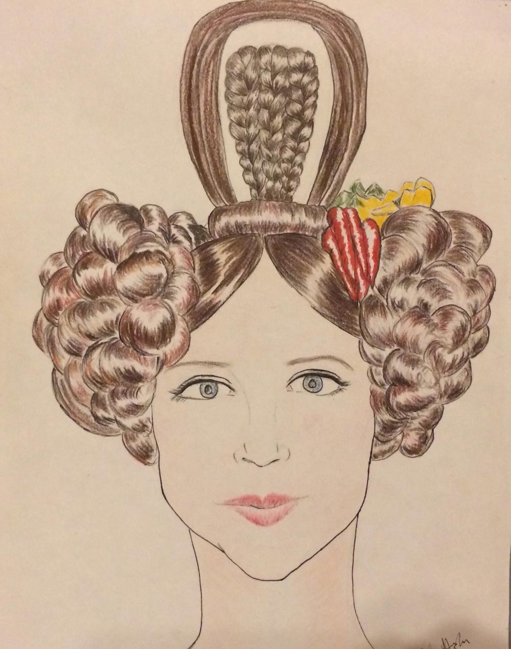 1830's Biedermeier Hairstyle