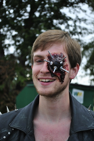 M is For Marauders   Spiked ball eye wound with blood  With  Kai Ravelson