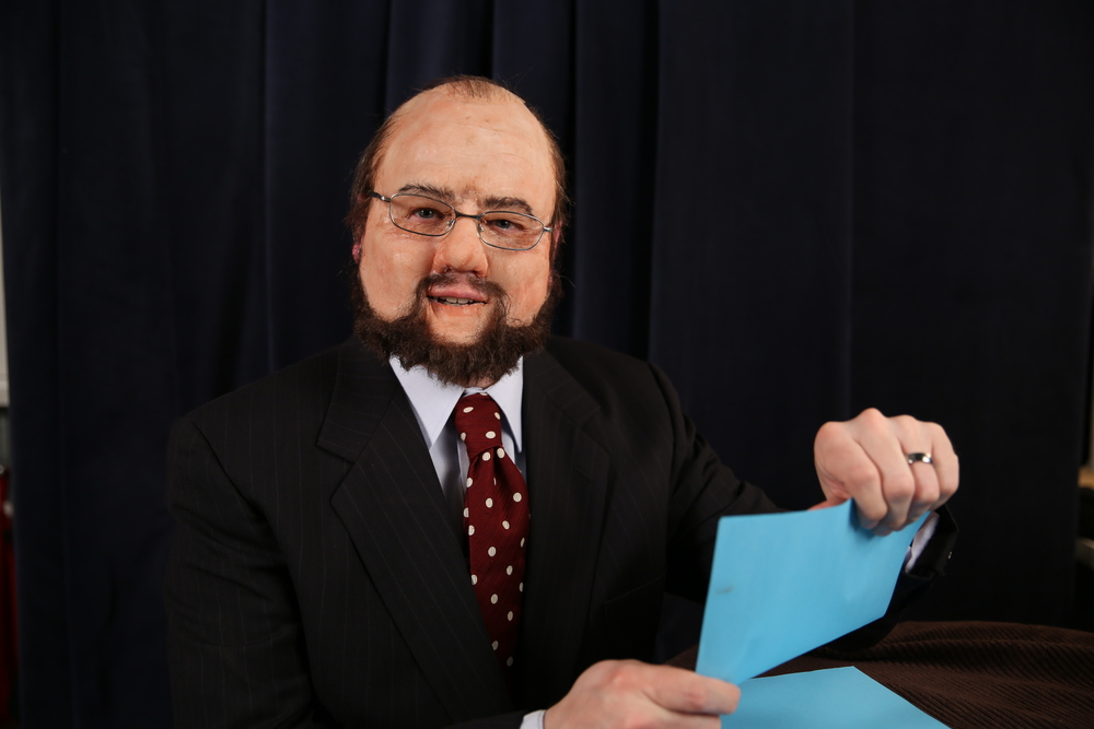 Old age silicone prosthetic look-a-like project: James Lipton from Inside The Actors' Studio  Photo: Jill Elaina Haley  Set Dressing: Frances Smith