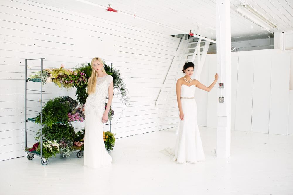 Creative Direction: Liz Gardner for Mpls. St. Paul Magazine Weddings Fashion Editor: Emily Sefton Stylist: Liz Doyle HMUA: Romeny Chan Floral: Munster Rose