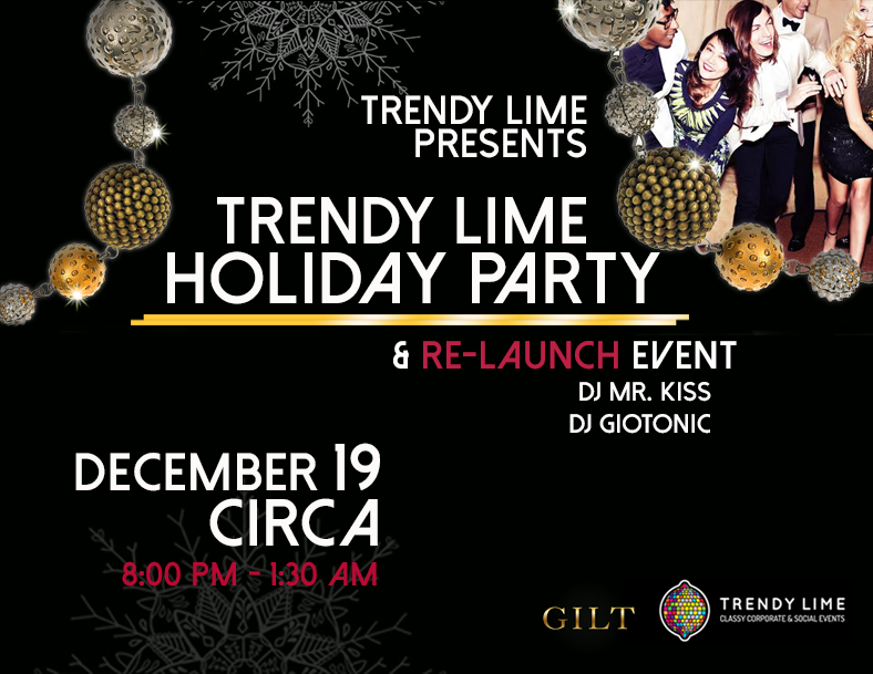 Trendy Lime Holiday Party