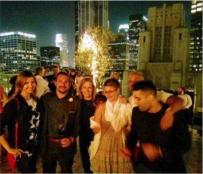 Meeting BizBash and E-180 team at upscale rooftop location in LA