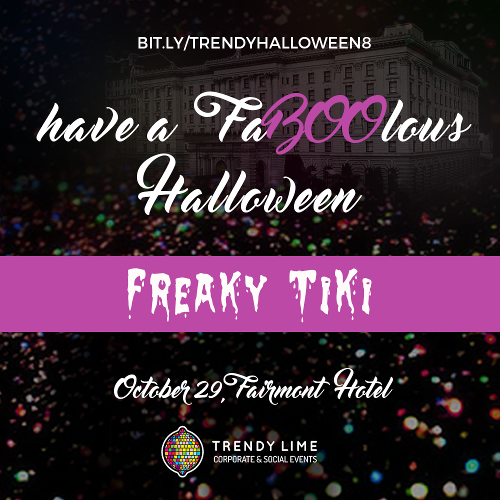 Trendy Lime's 8th annual halloween. October 29, 2016. Tickets at www.bit.ly/trendyhalloween8