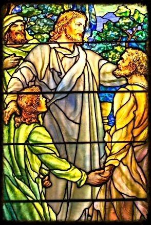Stained Glass Window Jesus & Disciples.jpg
