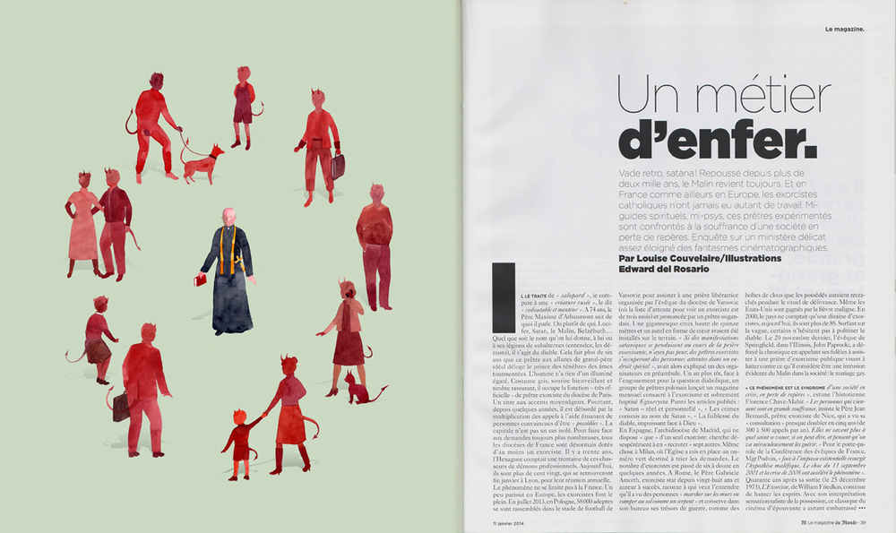 Illustration for Le Monde, January 2014