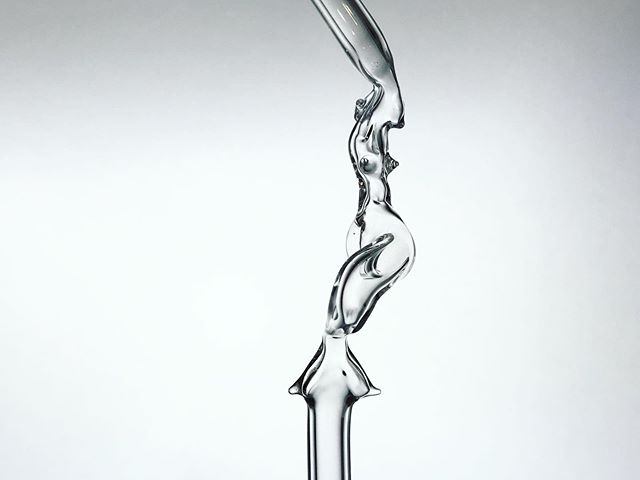 Glass Mermaid Straw detail *sold* 🧜♀️✨ #sibelley #glassstraw #mermaid #glassmermaid