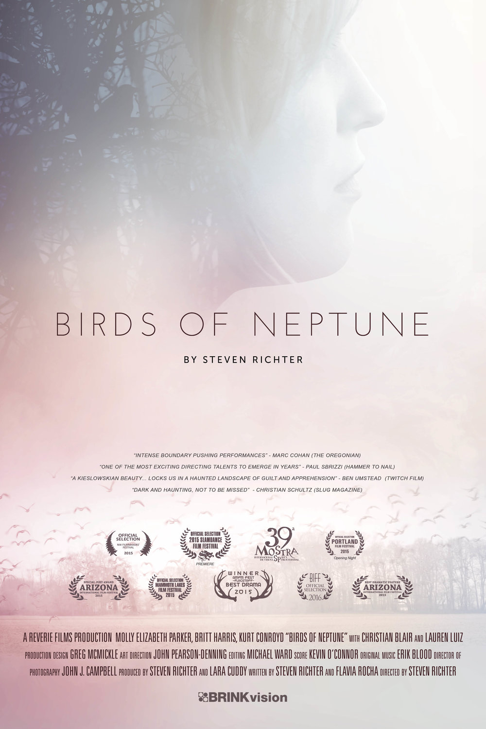 The award winning Birds of Neptune premiered at the Slamdance Film Festival. It is being distributed by Brinkvision (US) and Elo Company (World).  Available on DVD and VOD through Amazon and Fandor. -