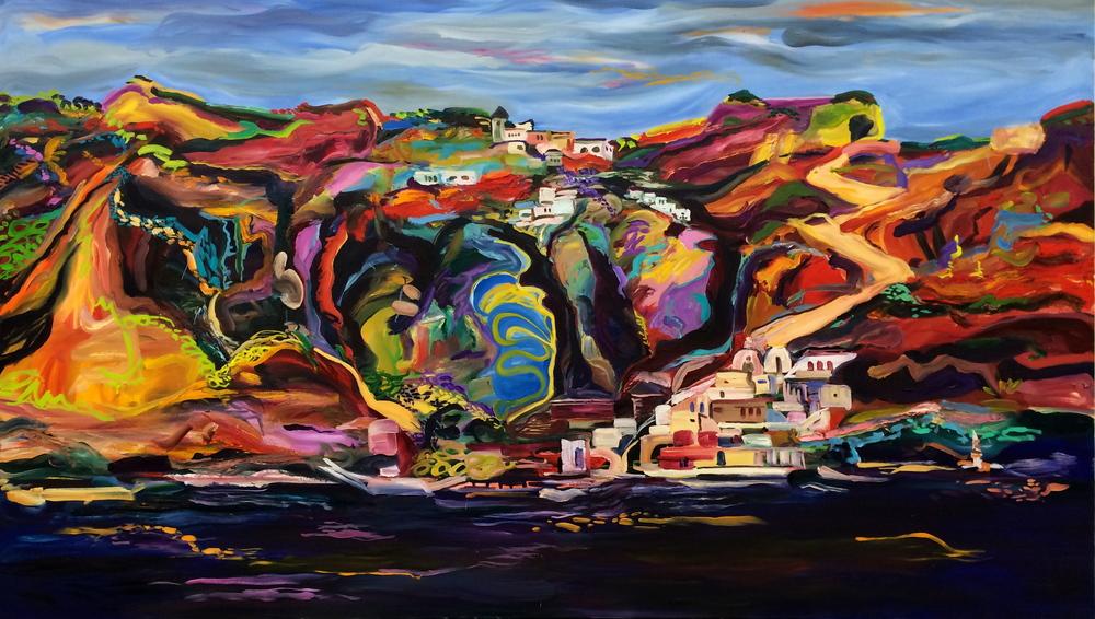 Cakescape, the Cliffs of Santorini