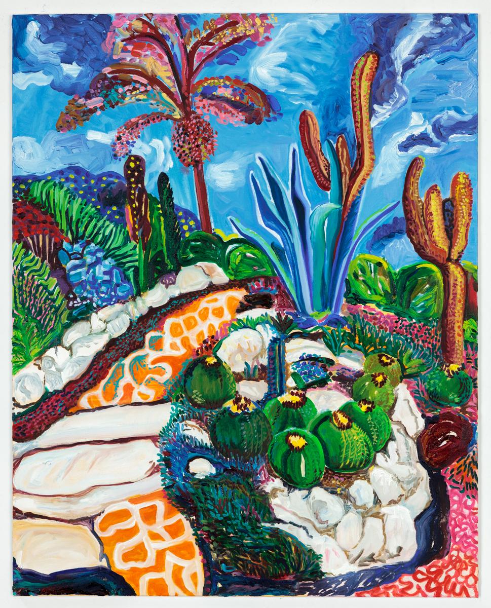 "Jardin d'Eze II 2016 Oil on canvas 24"" x 30"""