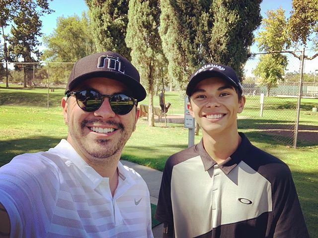 Golfing with my dude. #fathersontime #arroyoseco