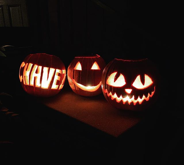 Chavez clan #jackolanterns came out great!!! #chavezclan #familytime
