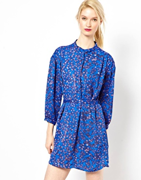 See By Chloe Blossom Print Shirt Dress with Belt