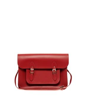 """ambridge Satchel Company Red Leather 11"""" Satchel"""