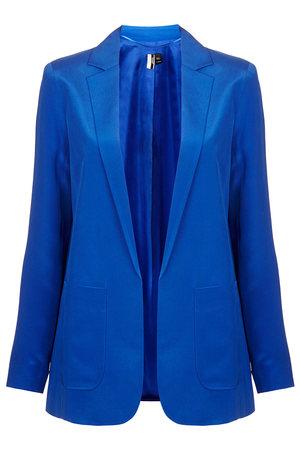 Jay Godfrey Blue Kanate Silk Blazer
